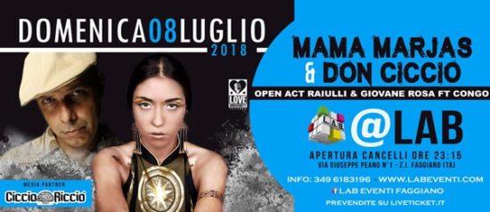 Mama Marjas & Don Ciccio - Concerto a LAB Eventi a Faggiano