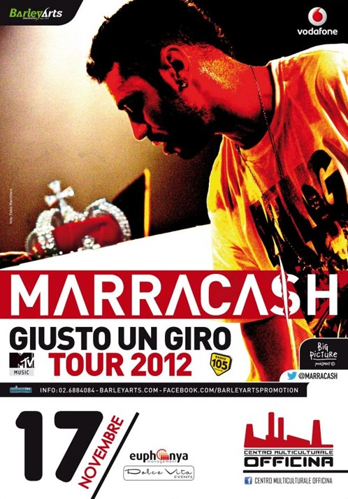 "Marracash ""Giusto un giro Tour"" al Centro Multiculturale Officina di Messina"