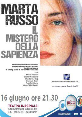 Marta Russo - il mistero della Sapienza al Teatro Imperiale di Guidonia