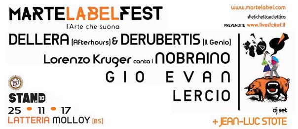 MarteLabelFest alla Latteria Molloy a Brescia