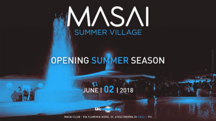 Opening pool party al Masai Summer Village a Cagli