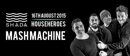 Househeroes Mash Machine allo Shada Beach Club