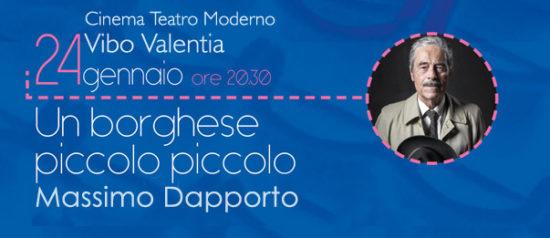 """Massimo Dapporto """"Un borghese piccolo piccolo"""" al Teatro Moderno di Vibo Valentia"""