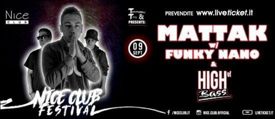 Nice Festival - Mattak & Funky Nano al Nice Club di Belluno