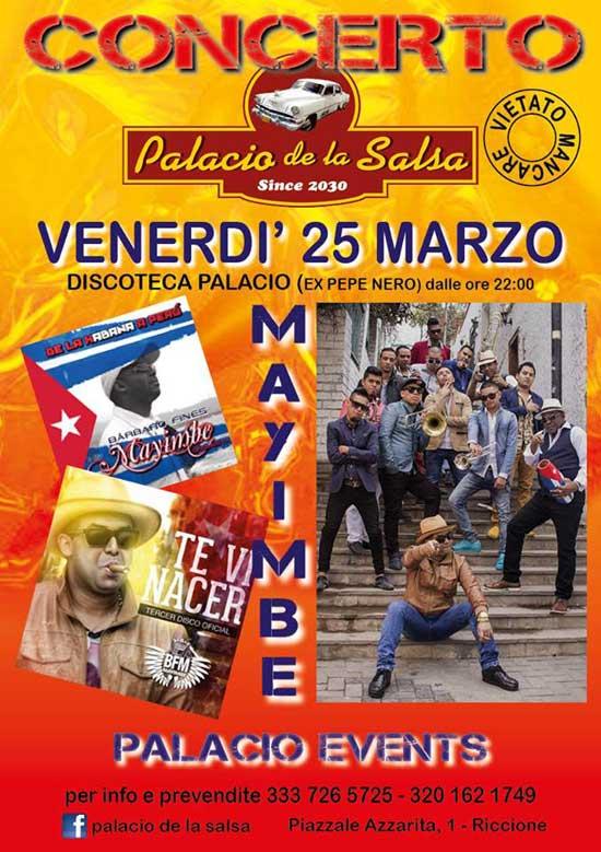 Concerto Mayimbe al Palacio de la Salsa di Riccione