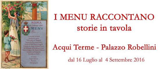 """I menu raccontano"" storie in tavola ad Acqui terme"