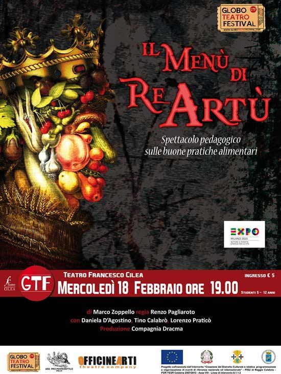 """""""Il menù di re Artù"""" al Globo Teatro Festival a Reggio Calabria"""