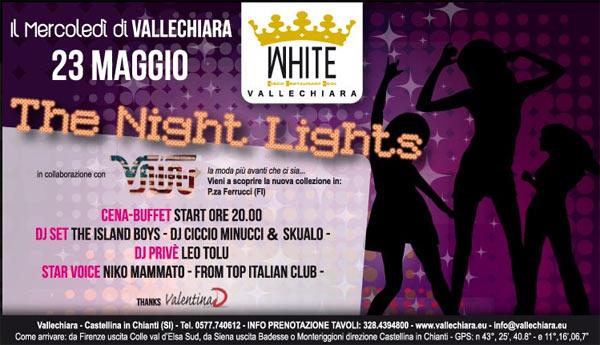 """""""Light Party"""" al White Vallechiara Disco Club"""