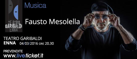 Fausto Mesolella in concerto al Teatro Garibaldi di Enna