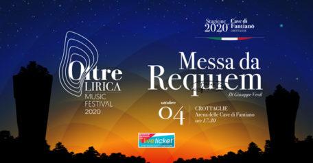 """Oltre Lirica Music Festival """"Messa da Requiem"""" all'Arena Cave di Fantiano a Grottaglie"""