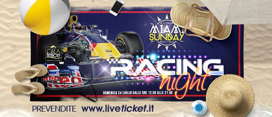 Miami Sunday - 2nd Edition with Red Bull Racing Party al Cala Felice Beach Club