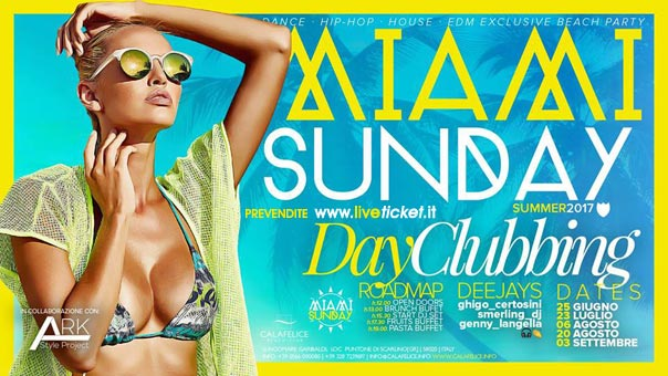 Miami Sunday al Cala Felice Beach Club a Puntone