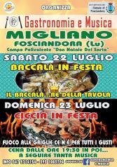 """Gastronomia e Musica al Campo Polivalente """"Don Natale Del Sarto"""" a Migliano"""