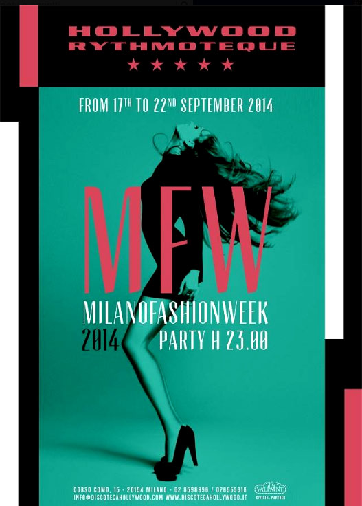 Milan Women Fashion week Spring-Summer 2015 Hollywood Milano