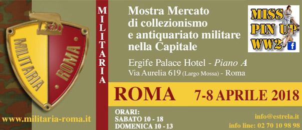 "Mostra mercato ""Militaria Roma"" 2018 all'Ergife Palace Hotel di Roma"