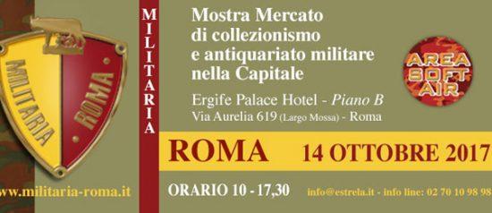 "Mostra mercato ""Militaria Roma"" 2017 all'Ergife Palace Hotel di Roma"