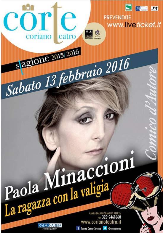 """Paola Minaccioni """"La ragazza con la valigia"""" al Teatro CorTe di Coriano"""