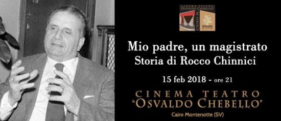 Mio padre, un magistrato al Teatro O. Chebello di Cairo Montenotte
