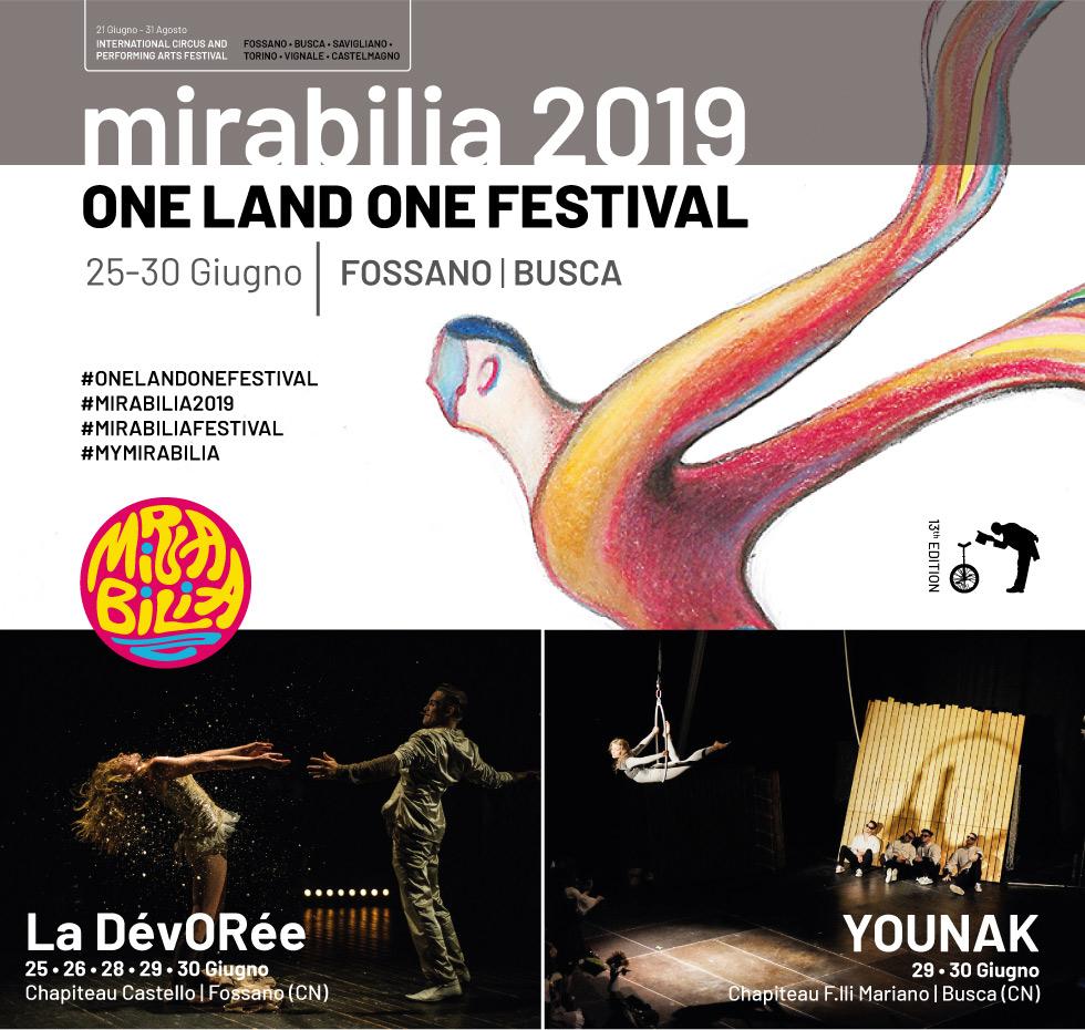 """Mirabilia Festival 2019 """"One Land One Festival"""" a Fossano e Busca"""