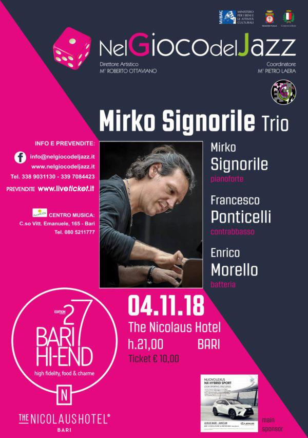 Mirko Signorile Trio al The Nicolaus Hotel a Bari