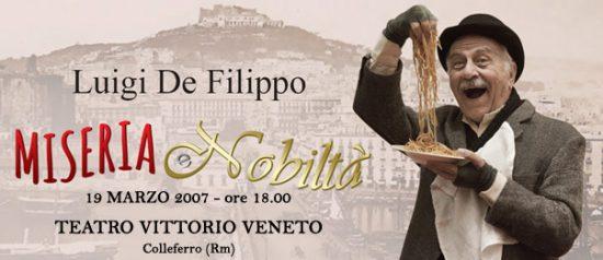 Miseria e nobiltà al Teatro Vittorio Veneto di Colleferro