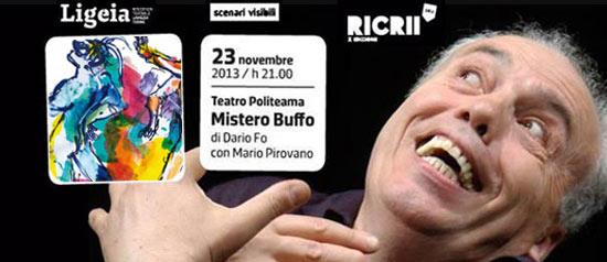 """""""Mistero buffo"""" al Teatro Politeama di Lamezia Terme"""