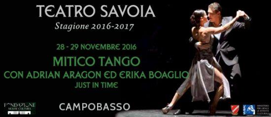 """Adrián Aragón e Erica Boaglio """"Mitico Tango"""" al Teatro Savoia di Campobasso"""