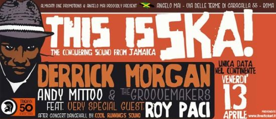 Andy Mittoo & The Groovemakers + special guest Roy Paci all'Angelo Mai di Roma