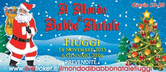 Il Mondo di Babbo Natale a Fonte Bonifacio a Fiuggi