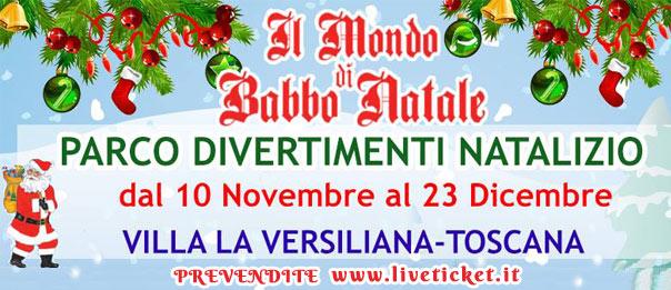 Il Mondo di Babbo Natale a La Versiliana a Marina di Pietrasanta