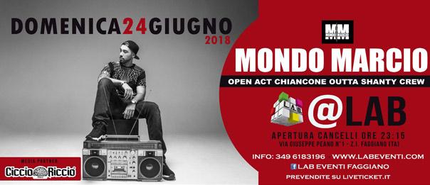 Mondo Marcio live DJ set a LAB Eventi a Faggiano