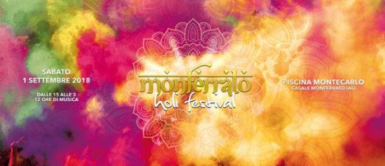 Monferrato Holi Festival 2018 alla Piscina Montecarlo a Casale Monferrato