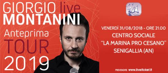 """Giorgio Montanini """"Anteprima Tour 2019"""" al Centro La Marina Pro Cesano a Cesano"""