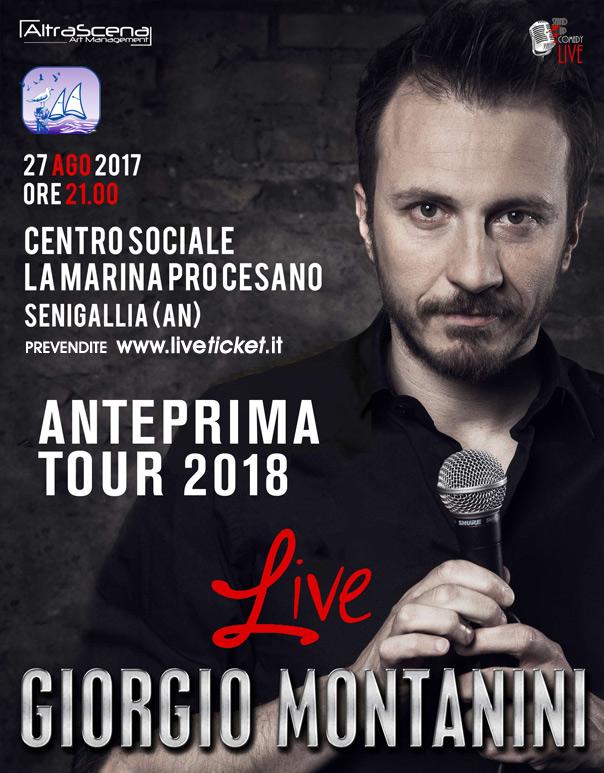 """Giorgio Montanini """"Anteprima Show 2018"""" al Centro La Marina Pro Cesano a Cesano"""