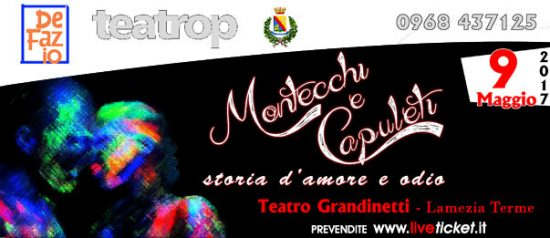 """Gran Galà delle scuole """"Montecchi e Capuleti"""" al Teatro Grandinetti di Lamezia Terme"""