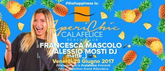 """Aperichic"" Francesca Mascolo - Alessio Mosti al Cala Felice Beach Club a Puntone"