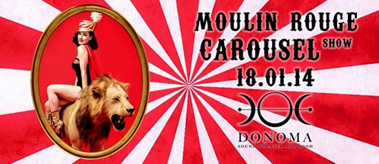 """Moulin Rouge Carousel"" al Donoma Sound Theater and Food di Civitanova Marche"