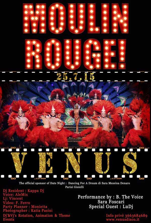 Moulin Rouge al Venus Disco a Selinunte