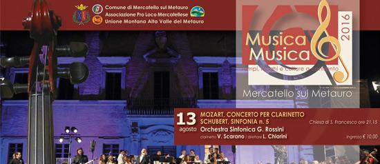 "Orchestra Sinfonica G. Rossini ""Mozart - Schubert"" a Musica&Musica 2016 a Mercatello sul Metauro"