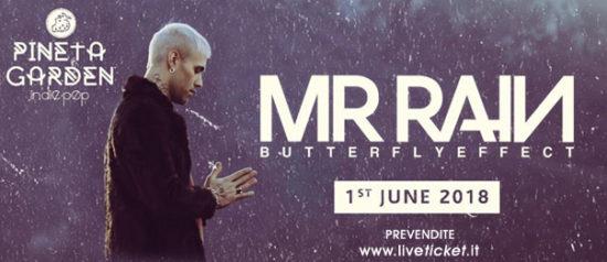 MR. Rain in concerto al Pineta Garden di Sassocorvaro