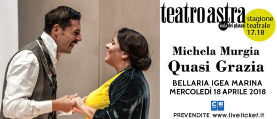"""Michela Murgia """"Quasi Grazia"""" al Teatro Astra di Bellaria Igea Marina"""