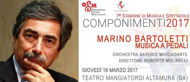 """Marino Bartoletti """"Musica a pedali"""" al Teatro Mangiatordi di Altamura"""