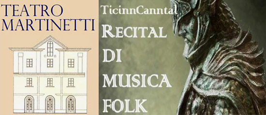 Recital di Musica Folk al Teatro Martinetti di Garlasco
