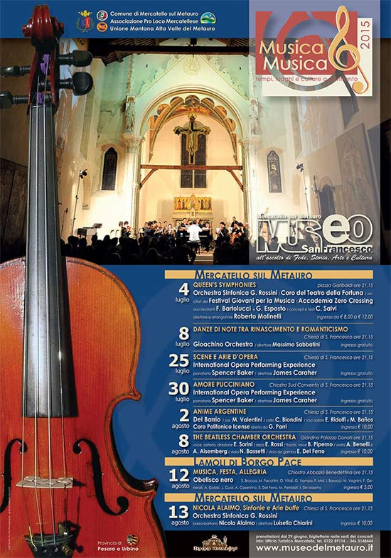 Musica&Musica 2015 a Mercatello sul Metauro