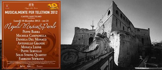 Napoli, musica e parole a Castel Sant'Elmo
