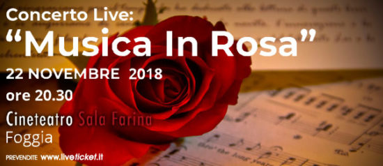 Musica in Rosa al Cinema Sala Farina a Foggia