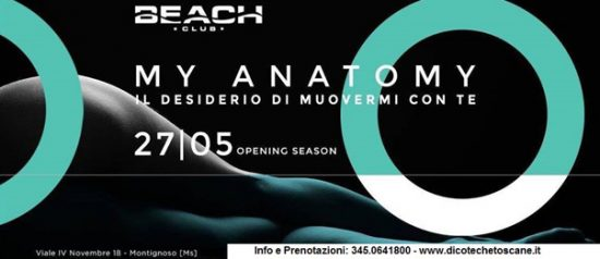 """My anatomy"" inaugurazione al Beach Club Versilia"