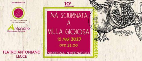 Na sciurnata a Villa Gioiosa al Teatro Antoniano di Lecce