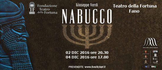 Nabucco al Teatro della Fortuna di Fano