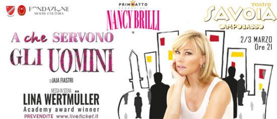 """Nancy Brilli """"A che servono gli uomini"""" al Teatro Savoia di Campobasso"""